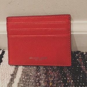 Michael Kors red card holder wallet